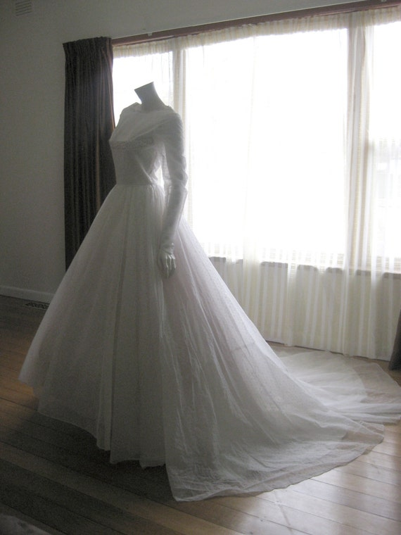 Vintage 50s/60s wedding dress