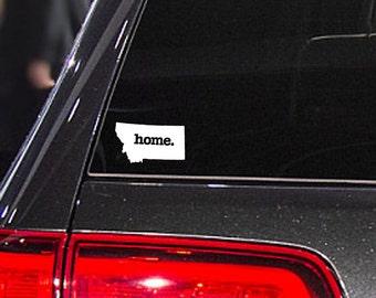 Montana Home. Decal Car or Laptop Sticker