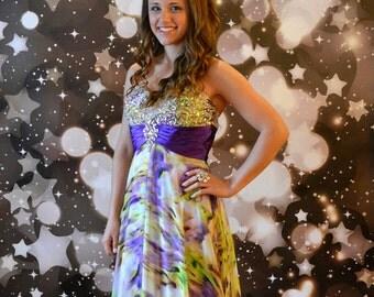5ft x 7ft Black Bokeh Photography Backdrop - Stars and Glittering Lights Photography Backdrop - Sparkle Backdrop - Item 1631