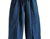 ChomThong Hand Woven Cotton Hakama Style Pants (PFS-039-03L)