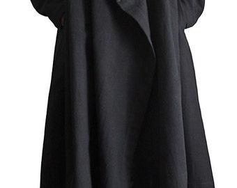 ChomThong Hand Woven Cotton Hooded Wrap Coat (JNN-078-01)