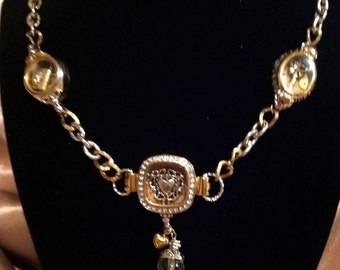 Upcycled vintage necklace perfect for stowing memories