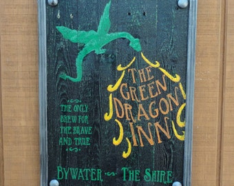 The Green Dragon Inn Sign - Made to Order