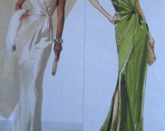 Evening Dress Pattern, Vogue 2929, Vogue Long Gown Pattern Belleville Sassoon