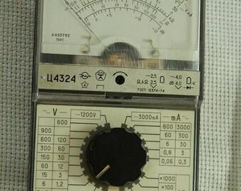 Very rare unused Soviet Russian multimeter/ tester 4324 made in USSR