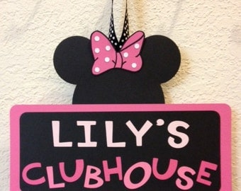 Minnie Mouse Birthday Clubhouse Sign/banner - Personalized
