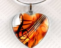 Treble Clef Musical Pendant, Music Necklace, G-clef, Treble Clef Necklace, Music Jewelry, Gift for Music Lover, Gift for Musician, Charm