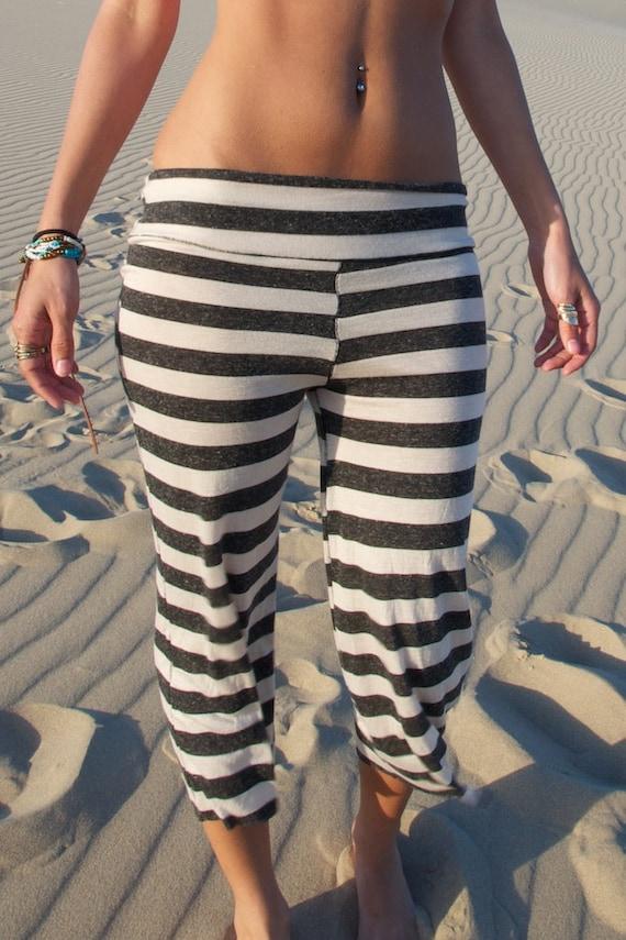 black white striped pirate gypsy beach lounge yoga baby