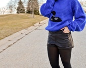 Blue Dotted Loon Sweater by Winona Knits SMALL