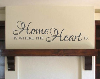 Home is where the Heart is Vinyl Wall Decal