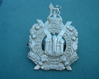Kings Own Scottish Borderers, KC Cap Badge - British Army