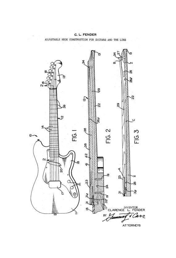 Guitar Fender Drawing Fender Stratocaster Guitar