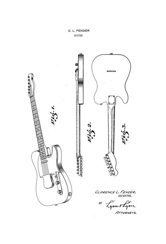 fender telecaster guitar  u0026 deluxe amp 1950 u0026 39 s patent art