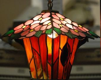 Flowering Tree Stained Glass Lantern © Dodge Studio, NY