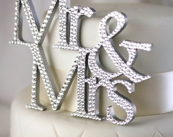 SALE! Mr & Mrs Cake Topper