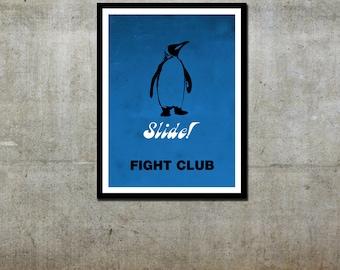 Penguin 'Slide' - Fight Club Inspired - Movie Art Poster