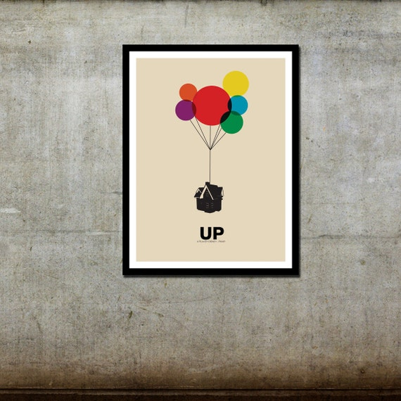 Up (original) - Disney Pixar Inspired - Movie Art Poster
