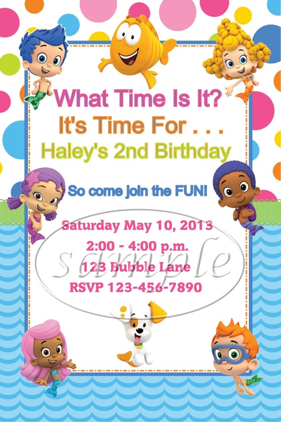 Bubble Guppies Birthday Invitations Images