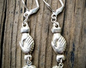Hearts and Hands Milagros Earrings, Love, Friendship, Lovers, Peace on Earth, Valentine, Sweetheart, Holding Hands, Handshake, Shake on it