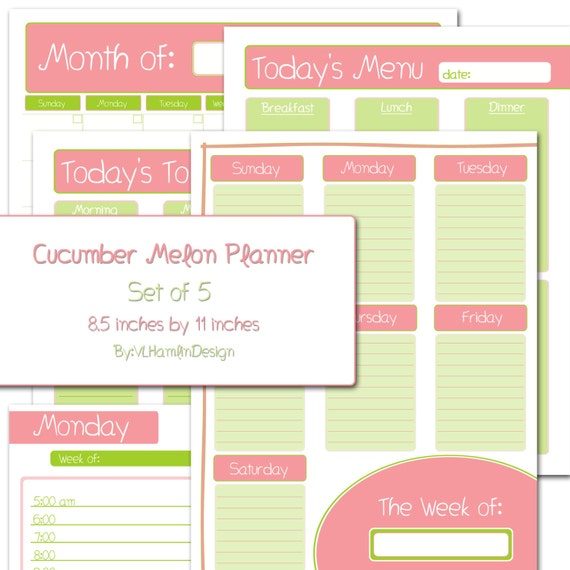 DOWNLOAD Printable Weekly Planner DIY Month Organizer and Daily ...