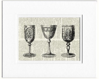 goblets I dictionary page print