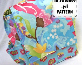 Small Backpack PDF Purse Pattern EASY Carryall Kelly Tutorial DIY Purse