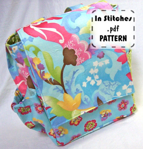 Small Backpack PDF Purse Pattern EASY Carryall Kelly Tutorial