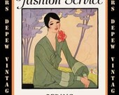 Vintage Sewing Book Spring 1927 Fashion Service Magazine Dressmaking Ebook Featuring Hats, Dresses and Lingerie -INSTANT DOWNLOAD-