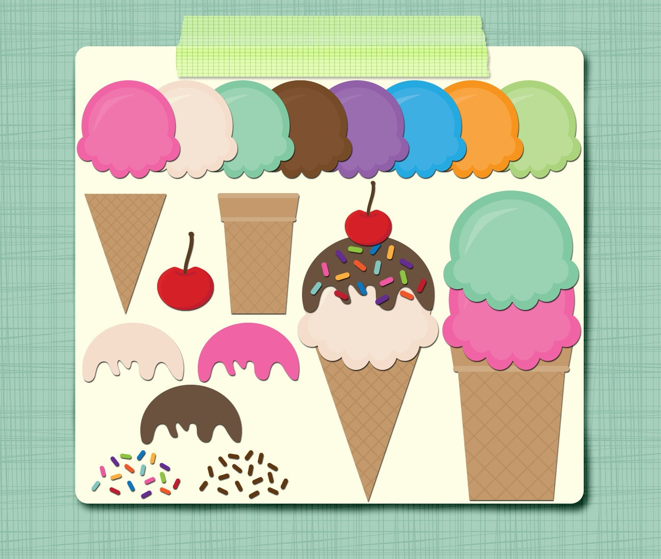 vintage ice cream clipart - photo #19