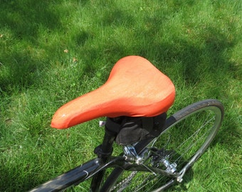 Bicycle Saddle Cover - STANDARD size - Orange Metallic