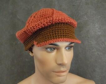 Crochet Cap,Brown Cap,Accessory, Unisex,Cotton Cap,Baseball Cap,Children,Women.Men,Girls,Boys