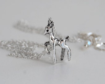 Always - Silver Patronus Deer Necklace - Lily and Snape