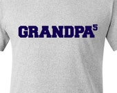 Grandpa shirt - grandpa to nth power personalized with grandkids names on back t-shirt- sweet Father's Day gift for grandpa