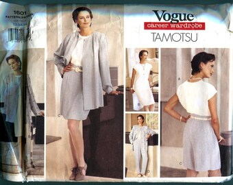 Vogue 1601 Jacket Dress Shorts Pants Career Wardrobe Tamotsu Sewing Pattern Misses Size 12  14  16  Bust  34  36  38 UNCUT