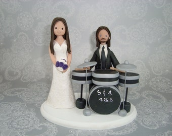 drummer wedding cake topper popular items for cake toppers on etsy 13755