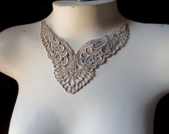 Lace Applique in Taupe for Lyrical Dance, Garments Costume Design CA 98