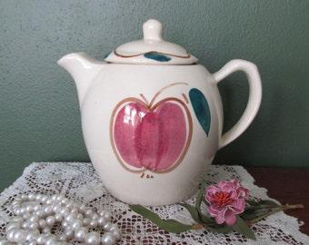 Teapot  Apple and Pear Design Puritan Porcelain