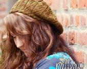 make your own Twisty Violet Hat (DIGITAL KNITTING PATTERN)