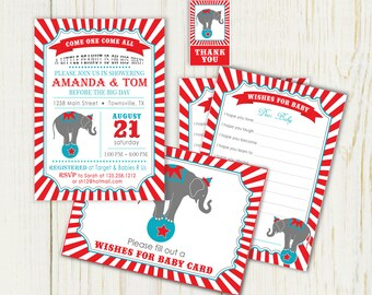 Circus baby shower Etsy