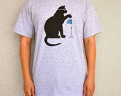 Cat Scientist - Boiling Flask - T-shirt, Sport Grey - Adult S-XL sizes