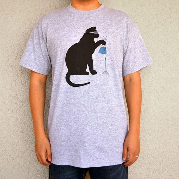 Cat Scientist - Boiling Flask - T-shirt, Sport Grey - Adult S-XL sizes