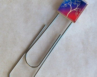 Abstract Tree  Scrabble Bookmark