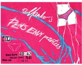"""Penis Envy Panties - AA """"tap panty"""" in  fuchsia (sexy, silly, punk, adult, mature)"""