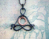 "Little Yogi - ""Heart-Space-Portal"" - yoga jewelry - yoga -  zen - men - meditation - love - lotus - gyan mudra - sacred geometry -Lemurian"