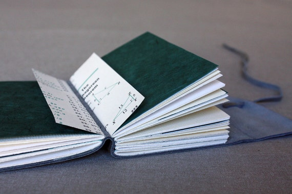 Leather journal for math and geometry lovers