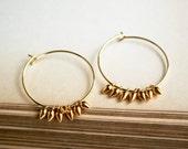 Gold Hoop Earring, Gold Jewelry, Everyday Earrings
