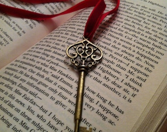 Vintage style Skeleton Key Ribbon Bookmark