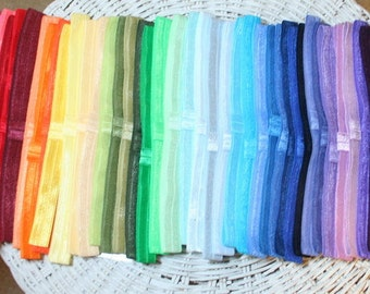 Headbands 55 Colors -  Popular Set Interchangeable Great for Gift Giving -  Wear with or without hair bow 5/8 inch Headbands