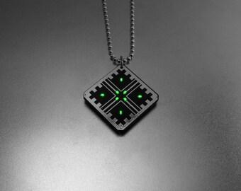 Metal LED Target Cross PCB Pendant