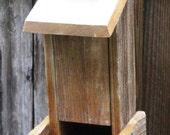 The Sparrow - Hopper Bird Feeder, Upcycled Materials, Vintage Brass